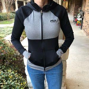 Black and grey Fila sport jacket
